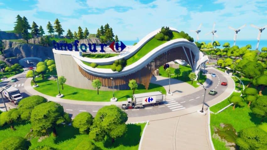Carrefour entra en Fortnite con un supermercado ecológico para recuperar vida