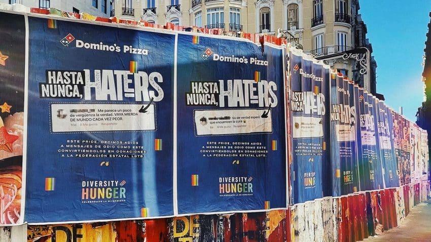 Domino's Pizza convierte el odio en donaciones en su