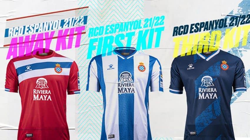 El RCD Espanyol presenta sus equipaciones para la temporada 2021/2022