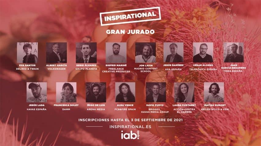 IAB Spain presenta el Gran Jurado de los Premios Inspirational 2021