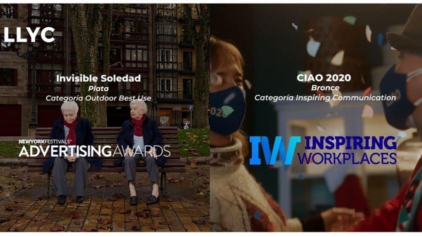 La creatividad de LLYC cosecha nuevos éxitos internacionales