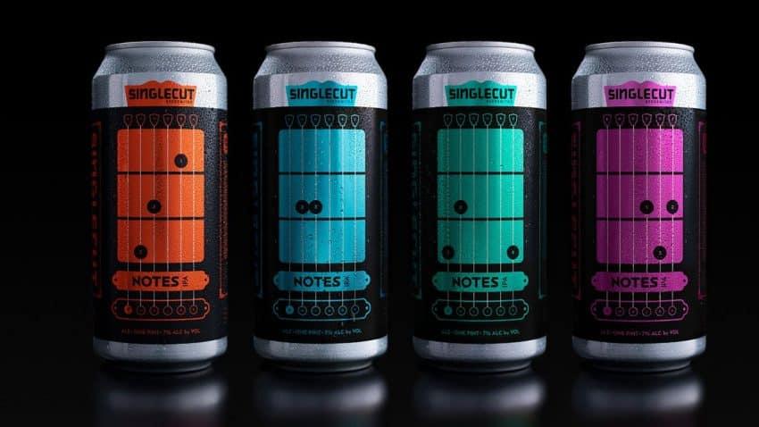 Estas latas de cerveza táctiles te enseñan a tocar la guitarra entre trago y trago