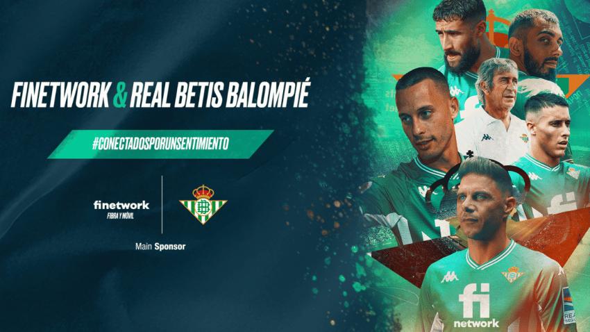 Finetwork, patrocinador principal del Real Betis Balompié