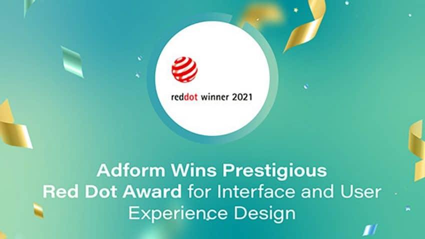 Los premios Red Dot Design proclaman a Adform FLOW como ganador de la categoría de Interfaz y Experiencia de Usuario por su excelente diseño e innovación de 2021