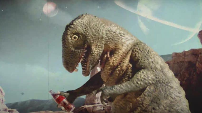 El dinosaurio que paró el meteorito que le destruiría con una Coca-Cola Zero, según este spot