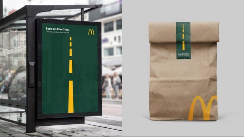 McDonald's insta a sus fans a apartar los ojos y (las manazas) de su comida cuando conducen
