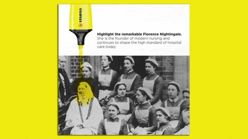 Stabilo subraya (con amarillo fosforito) el arrojo de tres mujeres pioneras en esta campaña