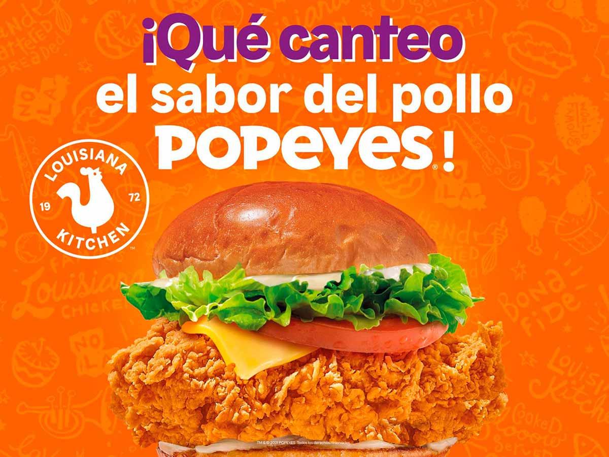 """Cartel de la campaña """"Muy de Madrid"""" de Popeyes"""
