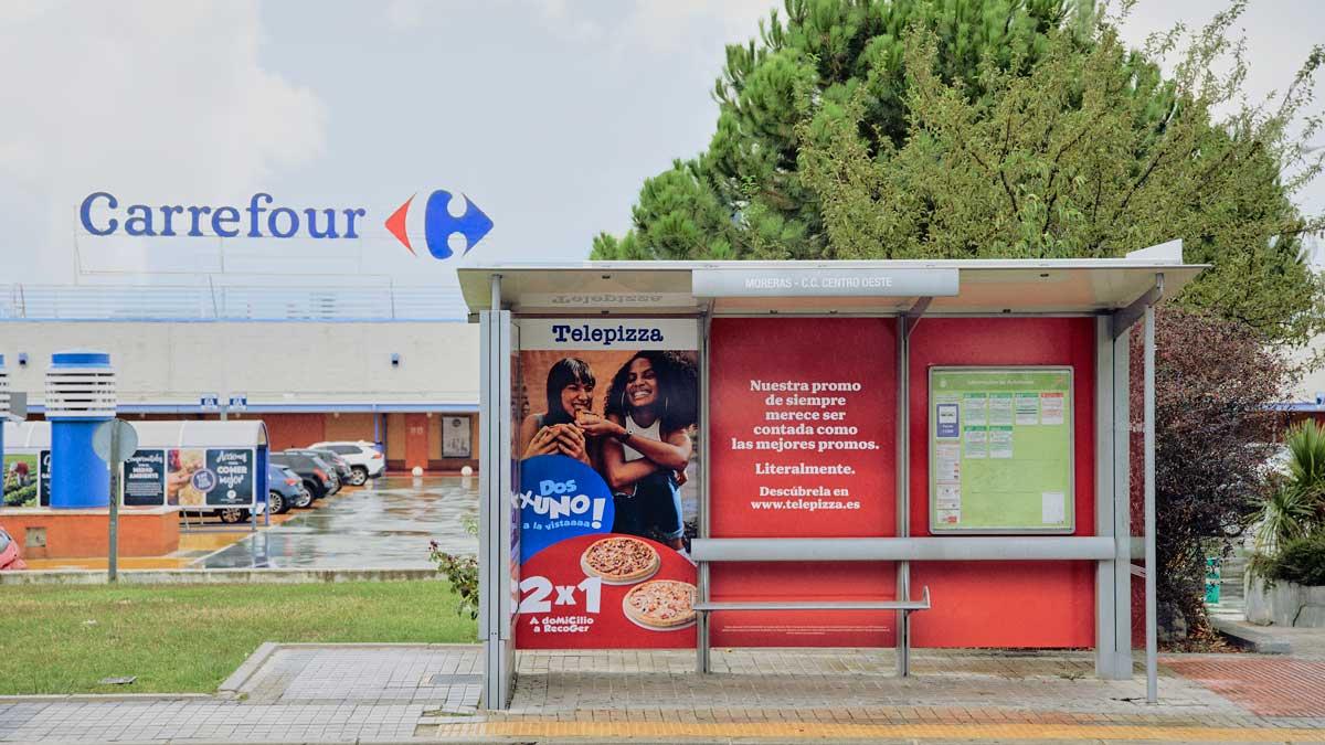 Campaña de Telepizza imitando a Carrefour