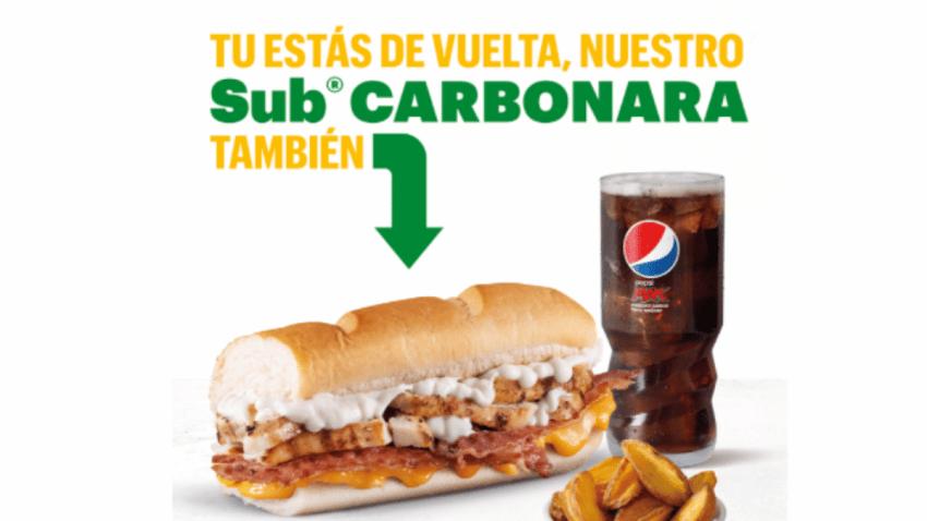 Subway llena de sabor la vuelta a la rutina