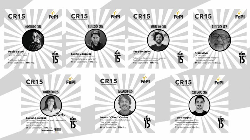 El FePI anuncia las próximas actividades del Ciclo CR15 Contenidos y Reflexiones