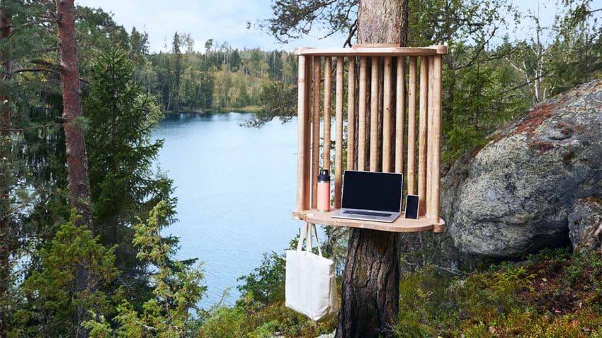 El futuro del teletrabajo está en el bosque: Esta ciudad instala