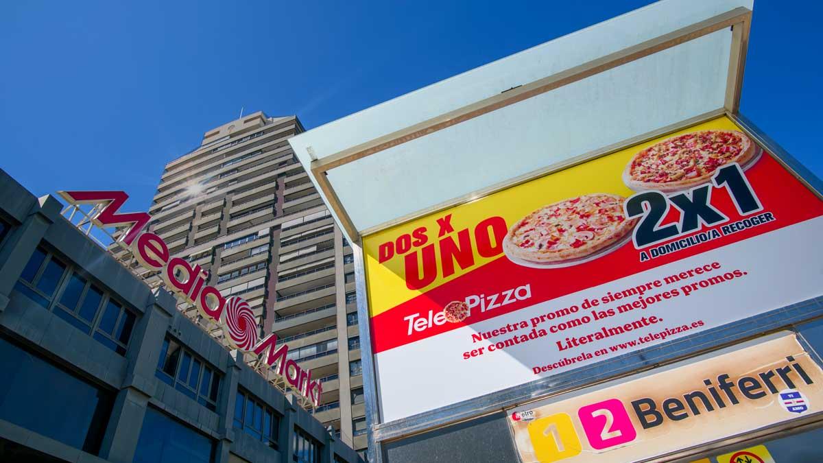 Campaña de Telepizza imitando a MediaMarkt