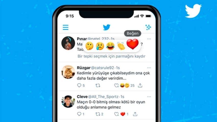 Twitter se suma a la moda e introduce emojis para reaccionar a los tuits