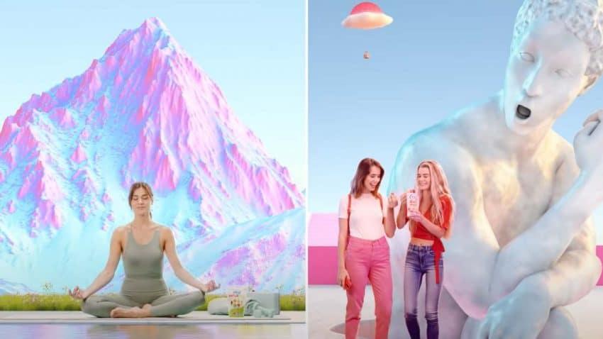 Estatuas que cobran vida y golosinas voladoras: La divertida campaña de Vidal