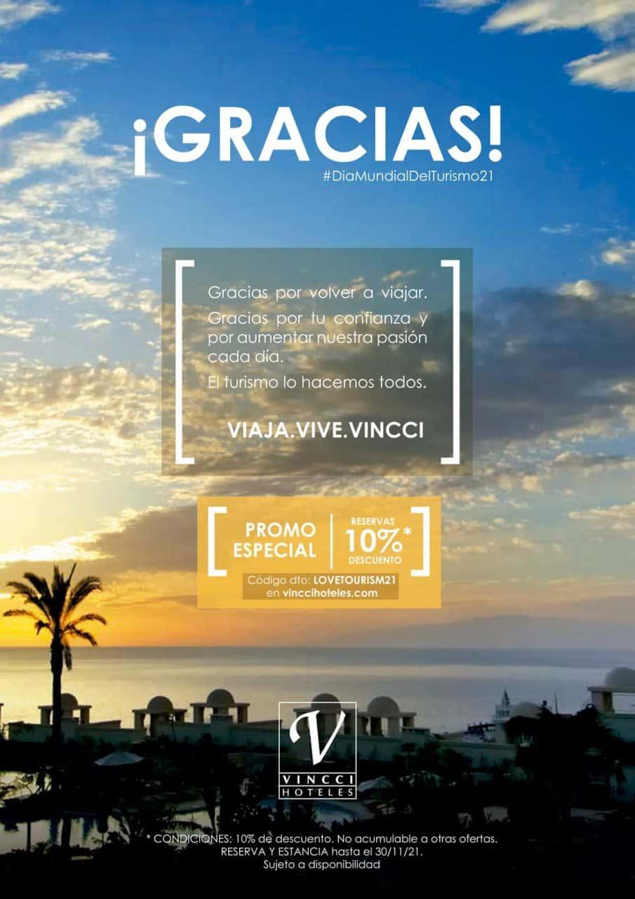 Cartel Vincci Hoteles en el Día Mundial del Turismo