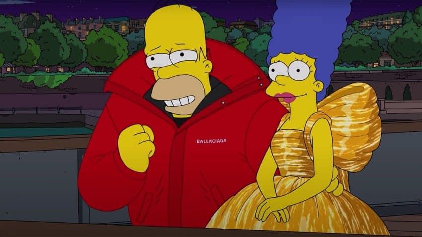 Balenciaga ficha a Los Simpson como salerosos maniquíes para presentar su nueva colección