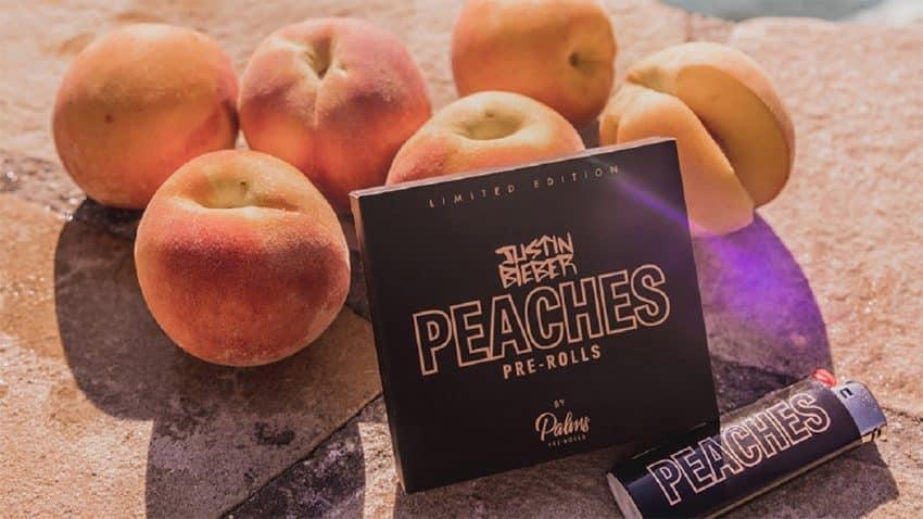 Justin Bieber le da una calada al negocio del cannabis con la línea de porros Peaches