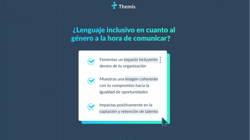Themis presenta una herramienta basada en la inteligencia artificial que corrige el lenguaje sexista