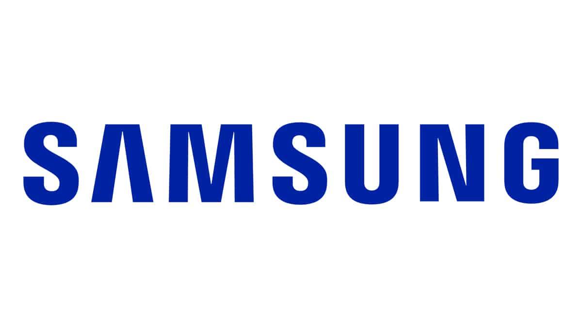 tipografía logo Samsung